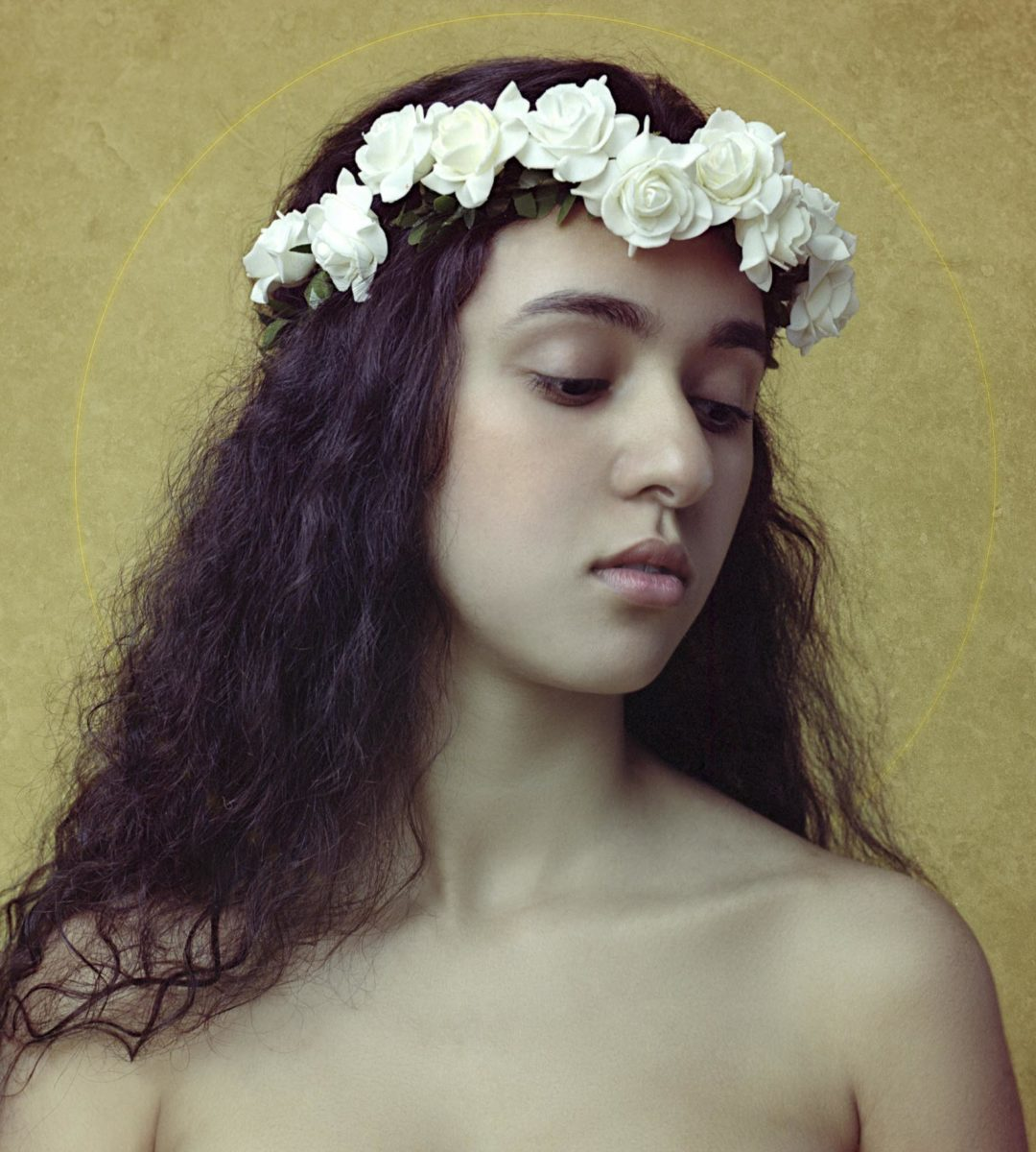 Artistic Photograph Of A Girl Wearing A Flower Crown
