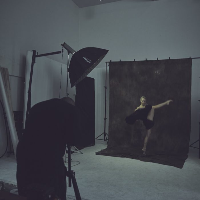 Ballet Dancer Posing For Miami Portrait Photographer