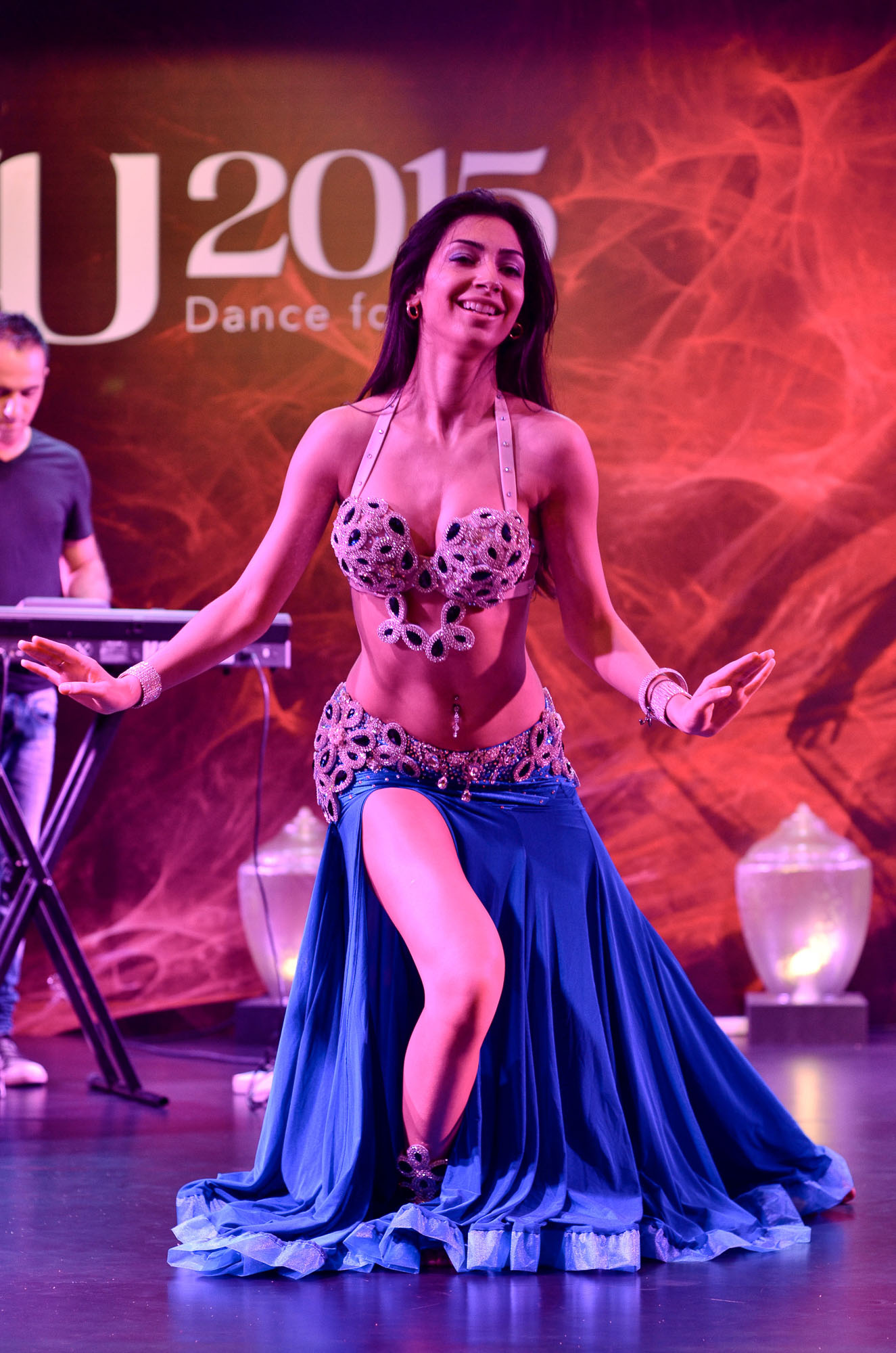 Digital photography of female belly dancer contestant