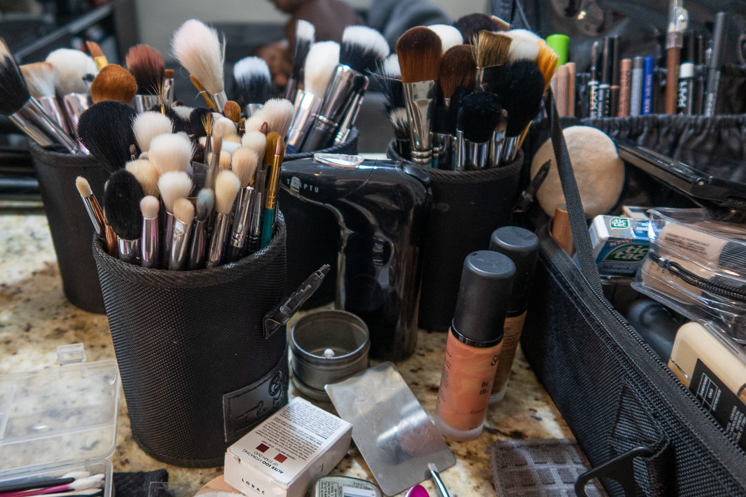 Make Up Station In Photography Studio
