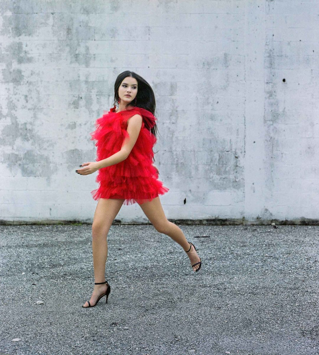 Fashion Photography Of Girl In Red Dress